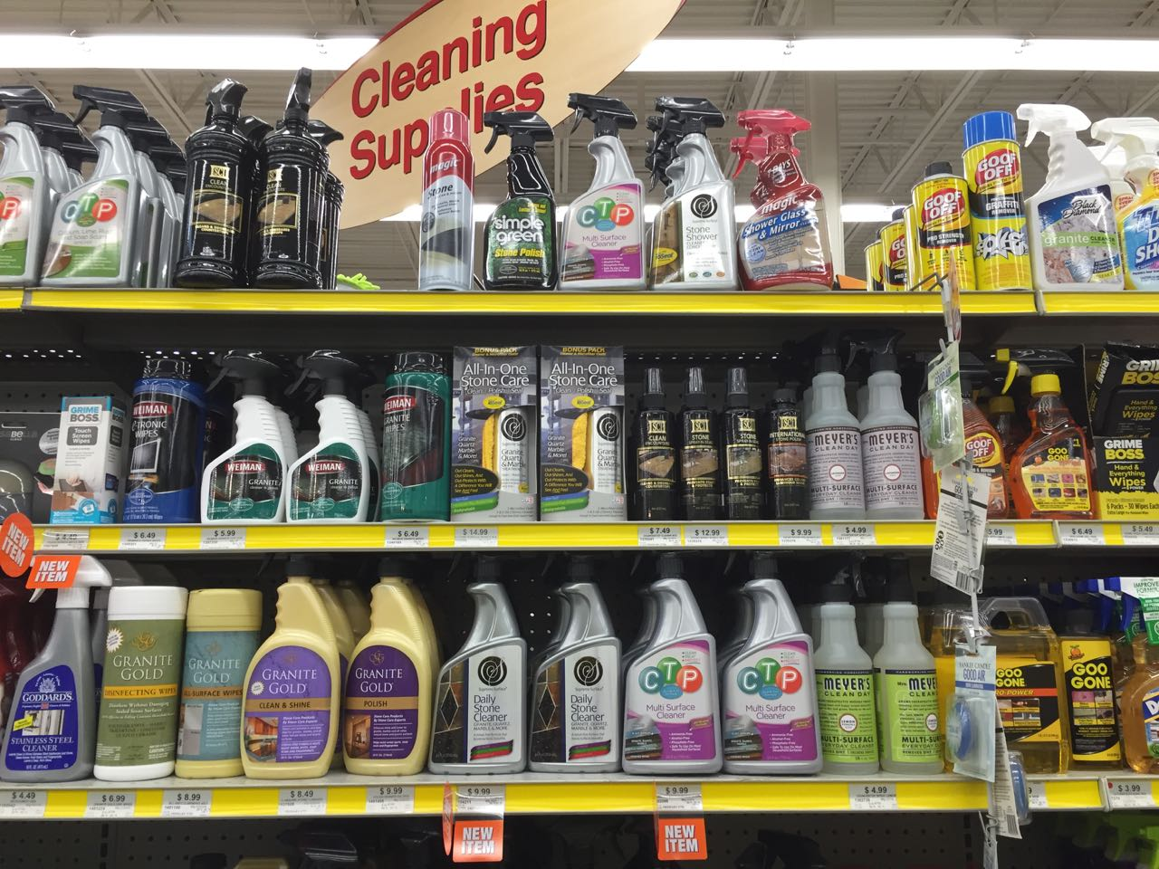 Munro-Co brands; Supreme Surface, CTP Multi-Surface and MunroCo Streak-Free Cleaner on store shelves at Select Ace Hardware stores around Chicago